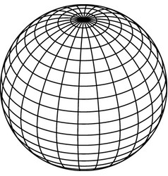 wireframe sphere globe on white background vector image
