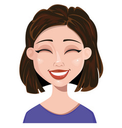 woman laughing female emotion face expression vector image