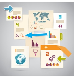 Infographics Paper Layout vector image