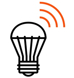 Wireless LED light icon vector image vector image