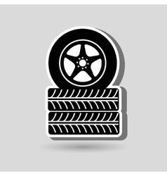 car tires design vector image