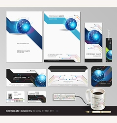 Corporate identity business set design Abstract vector image vector image