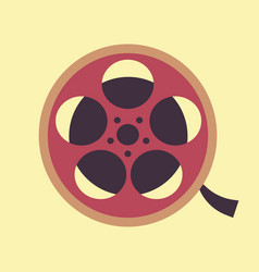flat modern design with shadow reel of film vector image