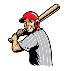 retro of baseball ready to hit the ball vector image