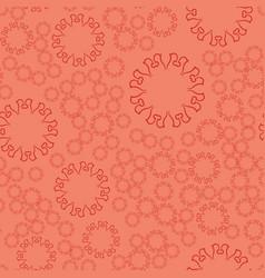 seamless terrcota flower mandala for print on vector image