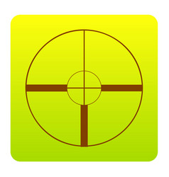sight sign brown icon at vector image