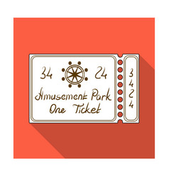 ticket for passage to the territory of the vector image vector image