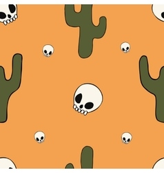 Cartoon seamless pattern with different objects vector image