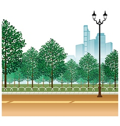 City Park Path Scene vector image