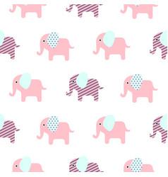 cute elephant cartoon baby seamless pattern vector image