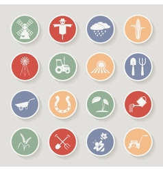 Farming round icons vector image vector image