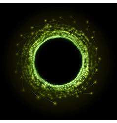 fireworks circle green vector image