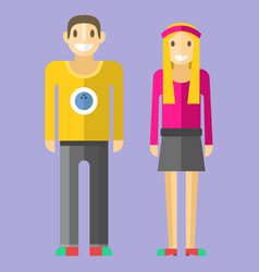 people happy couple cartoon relationship vector image