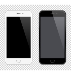 Realistic Mobile Phone Smartphone mock-up vector image vector image