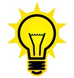 Shining light bulb icon vector image