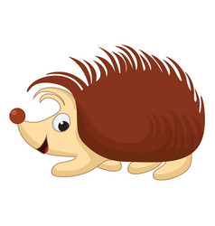 smiling cartoon hedgehog vector image