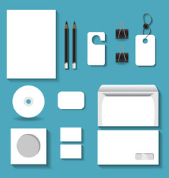 white mock ups for business vector image vector image