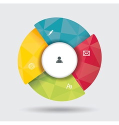 3d design infographics for presentations vector image