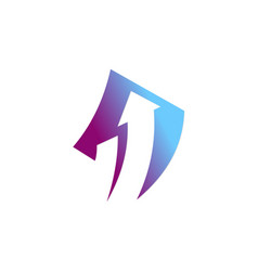 arrow asbtract company logo vector image vector image