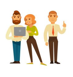 business people or office managers and workers vector image