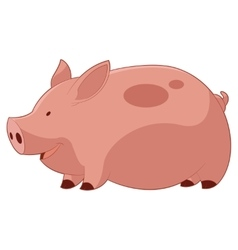 Cartoon Happy Pig vector image