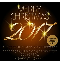 Classic Merry Christmas 2017 greeting card vector image