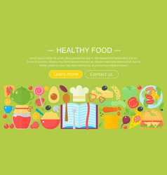 cooking collection healthy food infographics vector image