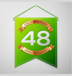 forty eight years anniversary celebration design vector image vector image
