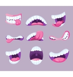 Funny comic mouths expressing different vector