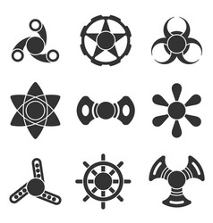 hand fidget spinner extra shape icon set vector image vector image