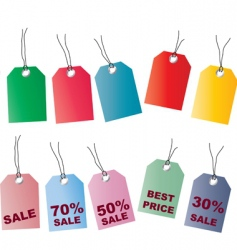 price tags2 vector image