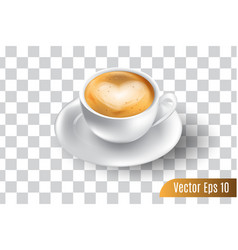 3d realistic espresso coffee on isolated vector image