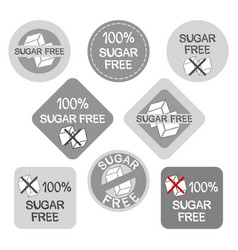 A set stickers for sugar-free culinary products vector