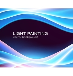 Abstract background glowing waves vector image