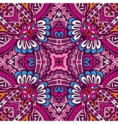 Abstract festive colorful ethnic tribal pattern vector