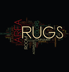 area rugs text background word cloud concept vector image