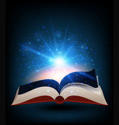 Book with bright light shinning vector