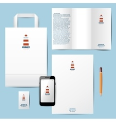 branding template with lighthouse logo vector image