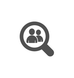 business recruitment simple icon search employees vector image