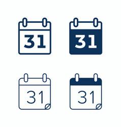 Calendar web icons day date agenda calendar vector