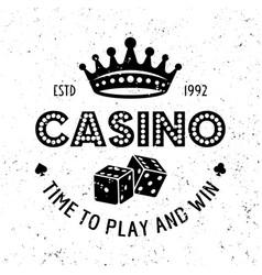 Casino and poker room gambling emblem vector