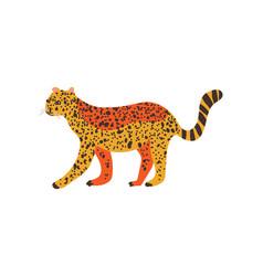 Cheetah guepard wild exotic african animal vector
