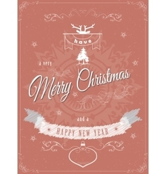 Christmas greeting scratched vector