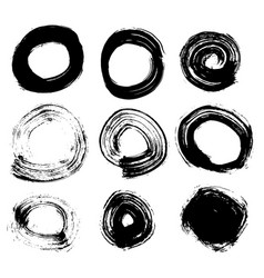 Circle hand drawn set isolated on white background vector