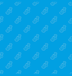 clean pad pattern seamless blue vector image