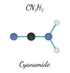 CN2H2 cyanamide molecule vector