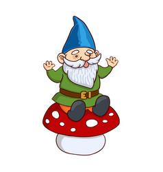 Colorful garden gnome vector