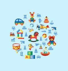 Digital blue yellow children vector
