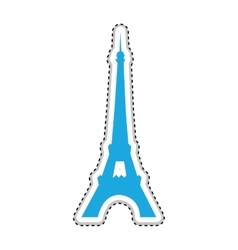 eiffel tower icon image vector image