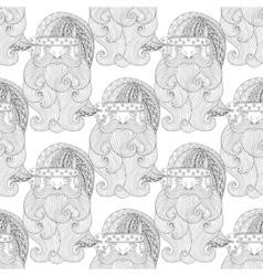 Fancy Santa seamless vector image